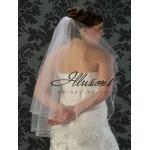 Illusions Bridal Pearl Edge Veil C5-362-P: Rhinestone Accent