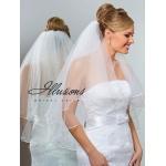 Illusions Bridal Pearl Edge Veil C1-302-P: Rhinestone Accent