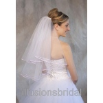 Illusions Bridal Colored Veils and Edges: Lavender Ribbon Edge