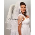 Illusions Bridal Ribbon Edge Veil S1-302-3R-RS: Rhinestone Accent