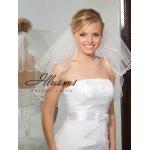Illusions Bridal Ribbon Edge Veil S1-202-1R: Pearl Accent