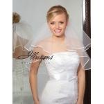 Illusions Bridal Ribbon Edge Veil C7-202-1R: Pearl Accent