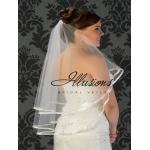 Illusions Bridal Ribbon Edge Veil C5-302-3R: Rhinestone Accent