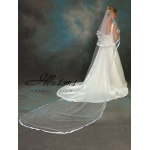 Illusions Bridal Ribbon Edge Veil C5-1442-7R