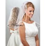 Illusions Bridal Ribbon Edge Veil 7-251-SR: Rhinestone Accent