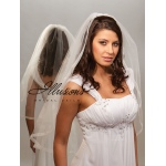 Illusions Bridal Ribbon Edge Veil 5-301-SR: Rhinestone Accent