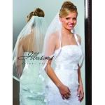 Illusions Bridal Ribbon Edge Veil 1-361-7R-RS: Rhinestone Accent