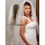 Illusions Bridal Ribbon Edge Veil 1-361-1R: Rhinestone Accent