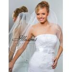 Illusions Bridal Ribbon Edge Veil 1-301-1R: Rhinestone Accent