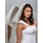 Illusions Bridal Ribbon Edge Veil 1-201-SR-RS: Rhinestone Accent
