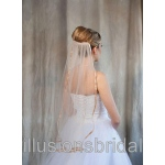 Illusions Bridal Colored Veils and Edges: Cafe Ribbon Edge