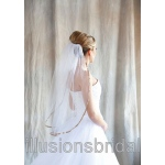 Illusions Bridal Colored Veils and Edges with Cafe Ribbon Edge