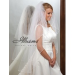 Illusions Bridal Soutache Edge Veil S1-452-ST-P: Pearl Accent
