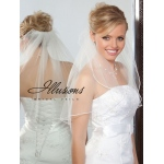Illusions Bridal Soutache Edge Veil 1-201-ST: Pearl Accent