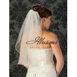 Illusions Bridal Pearl Edge Veil 1-251-PRS: Rhinestone Accent