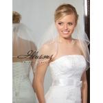 Illusions Bridal Rattail Edge Veil S5-202-RT: Pearl Accent