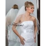 Illusions Bridal Rattail Edge Veil 1-302-RT: Rhinestone Accent