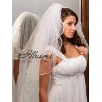 Illusions Bridal Rattail Edge Veil S1-252-RT: Pearl Accent