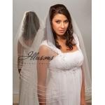 Illusions Bridal Rattail Edge Veil D7-302-TRT: Rhinestone Accent