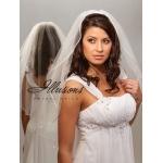 Illusions Bridal Rattail Edge Veil 7-301-RT: Pearl Accent