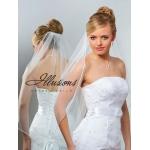 Illusions Bridal Rattail Edge Veil 5-301-RT: Rhinestone Accent