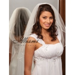 Illusions Bridal Rattail Edge Veil 1-251-RT: Rhinestone Accent