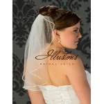 Illusions Bridal Rhinestone Edge Veil 7-201-TRS