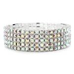 Mariell 5-Row Stretch AB Rhinestone Prom Or Bridesmaid Bracelet
