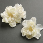 Mariell Ivory Silk Gardenia Trio Flower Hair Clips for Brides