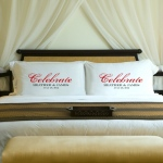 JDS Personalized Bliss Couples Pillow Case Sets