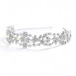 Mariell Vintage Crystal & Ivory Pearl Wedding Tiara Or Bridal Headband
