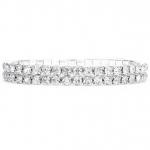 Mariell 2-Row Stretch Rhinestone Bracelet
