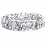 Mariell Bedazzling Wedding Bracelet in Multi Shaped CZ