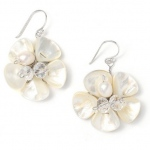 Mariell Freshwater Pearl Flower Bridal Earrings