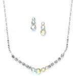 Mariell Dainty AB Crystal Rhinestone Prom Or Bridesmaid Necklace Set