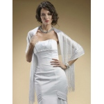 Mariell Metallic Weave Wrap for Weddings Or Proms