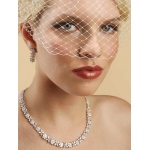 Mariell French Net Vintage Bridal Birdcage Visor Veil