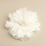 Mariell Soft Cream Wedding Hair flower Clip Or Brooch