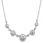Mariell CZ Circles Bridal Necklace