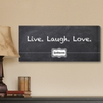 JDS Personalized Canvas Print: Chalkboard, Live, Laugh, Love