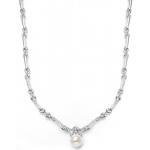 Mariell Sleek Designer Pearl & Cubic Zirconia Wedding Necklace