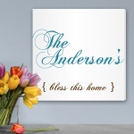 JDS Personalized Canvas Print: Bless This Home