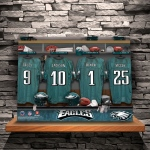 JDS Canvas Prints: NFL Locker Room