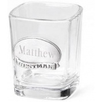 JDS Personalized Shot Glass: Pewter Emblem