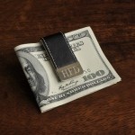 JDS Personalized Gentry Leather Money Clip