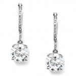 Mariell 2 Ct. Cubic Zirconia Bridal Or Bridesmaids Drop Earrings