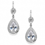 Mariell Bridal Or Prom Cubic Zirconia Teardrop Earrings