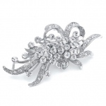Mariell Vintage Crystal Wedding Brooch