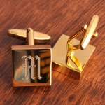 JDS Personalized Addison Cufflinks: High Polish, Brass