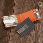 JDS Personalized Wallet/Money Clip: Metro Leather